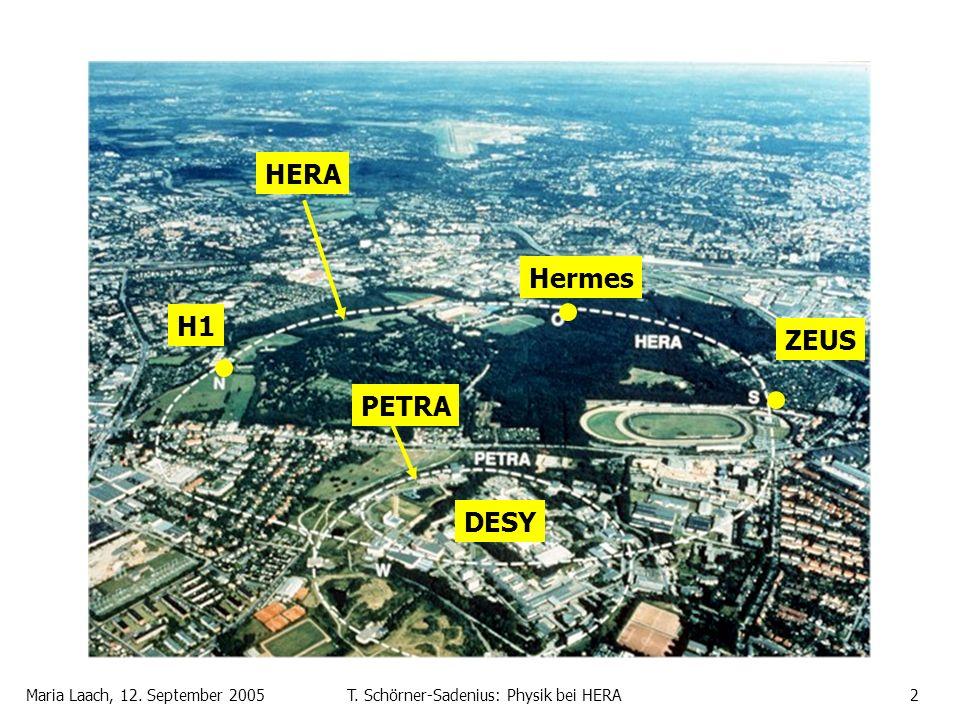 Maria Laach, 12. September 2005T. Schörner-Sadenius: Physik bei HERA2 H1 Hermes ZEUS DESY HERA PETRA