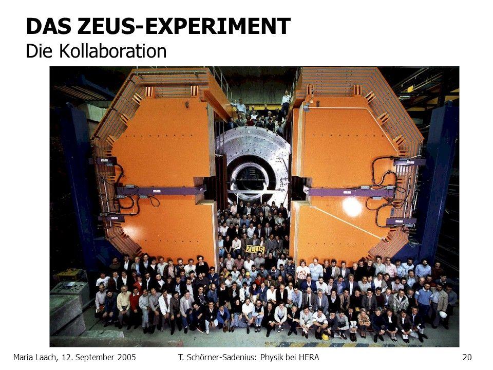 Maria Laach, 12. September 2005T. Schörner-Sadenius: Physik bei HERA20 DAS ZEUS-EXPERIMENT Die Kollaboration