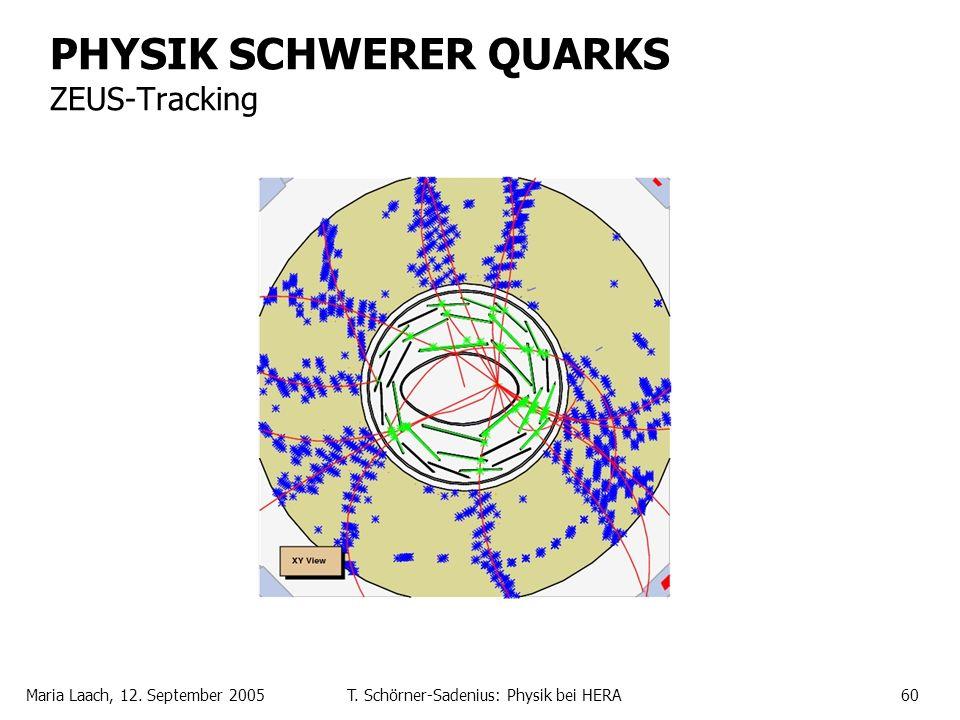 Maria Laach, 12. September 2005T. Schörner-Sadenius: Physik bei HERA60 PHYSIK SCHWERER QUARKS ZEUS-Tracking