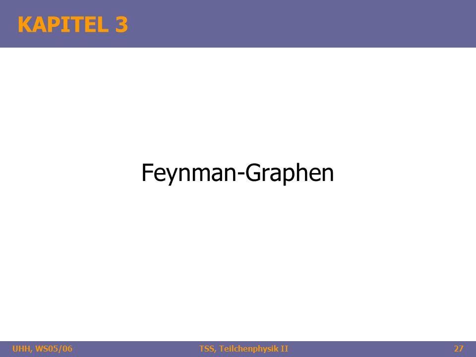 UHH, WS05/06 TSS, Teilchenphysik II27 KAPITEL 3 Feynman-Graphen