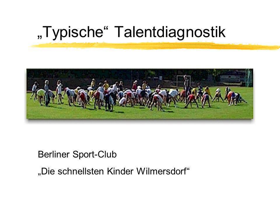 Typische Talentdiagnostik Berliner Sport-Club Die schnellsten Kinder Wilmersdorf