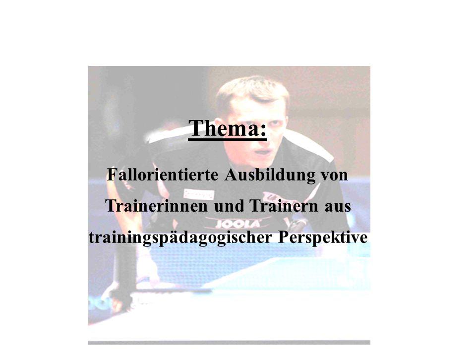 Die Trainerakademie stellt die Transferstelle zwischen Theorie und Praxis dar berufsakademisches, praxisorientiertes Studium mit sehr hohem Spezialisierungsgrad Ausbildung zum staatlich geprüften Trainer/in / Diplom- Trainer/in des DSB als Präsenzstudium (DTS 1) und berufsbegleitendes Studium (DTS 2) Trainerakademie Köln des DSB
