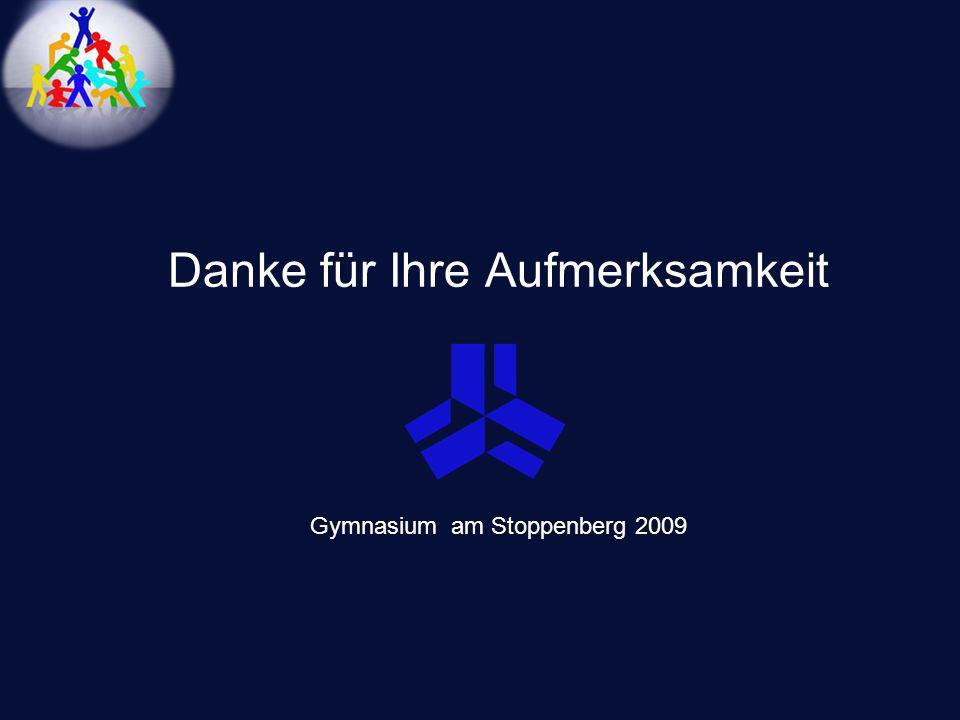 Danke für Ihre Aufmerksamkeit Gymnasium am Stoppenberg 2009
