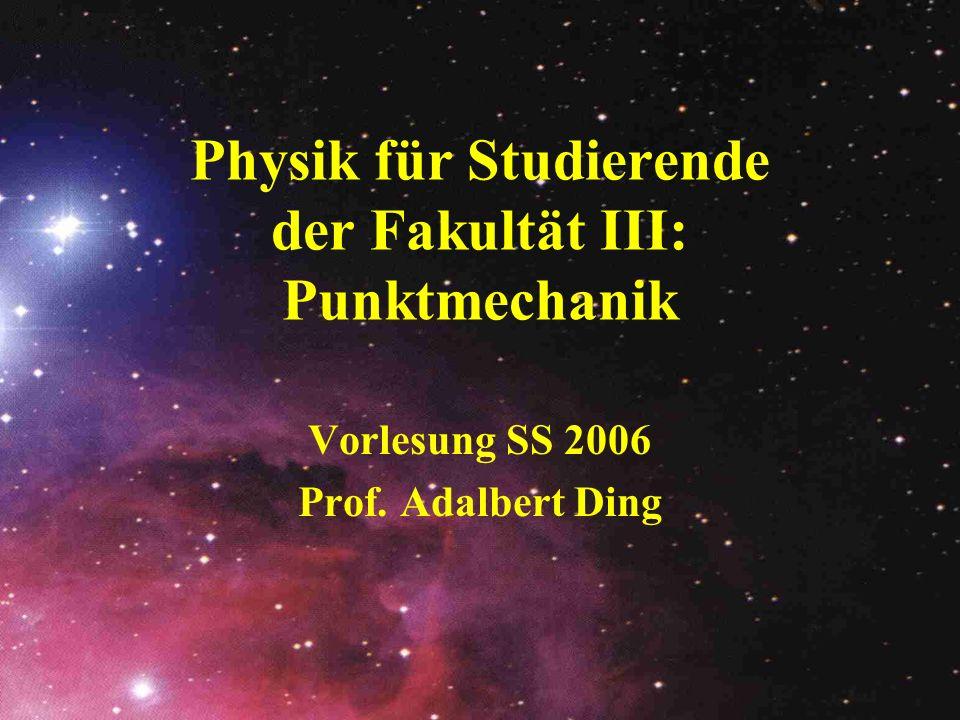 Kräfte (abgeleitete) Reibungskräfte Fliehkräfte Corioliskraft ° Atomare und molekulare Kräfte ° z.B.