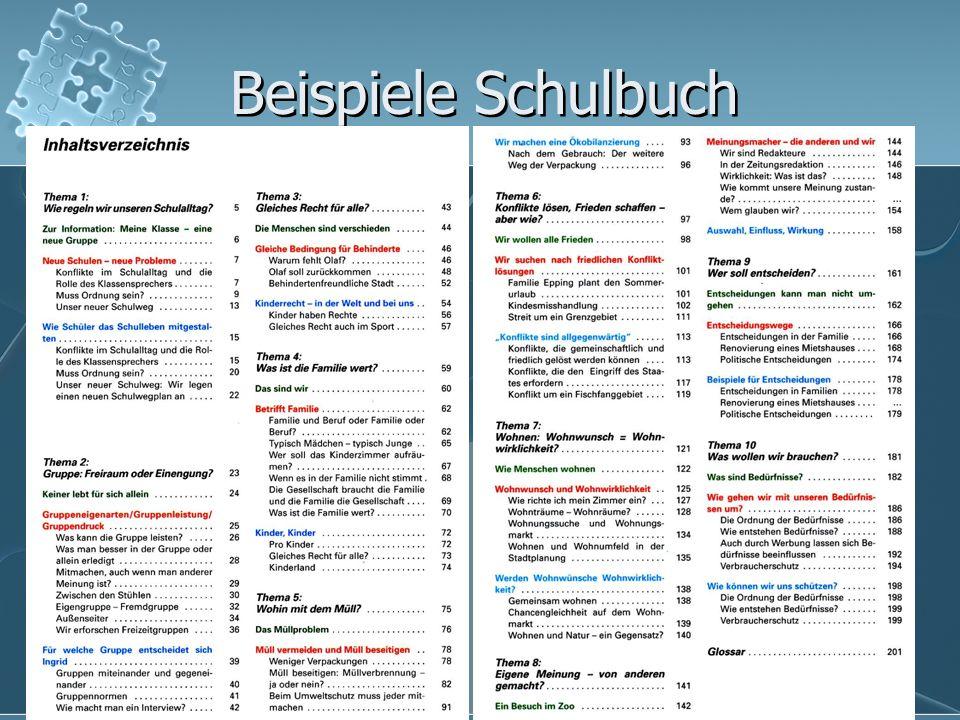 Beispiele Schulbuch