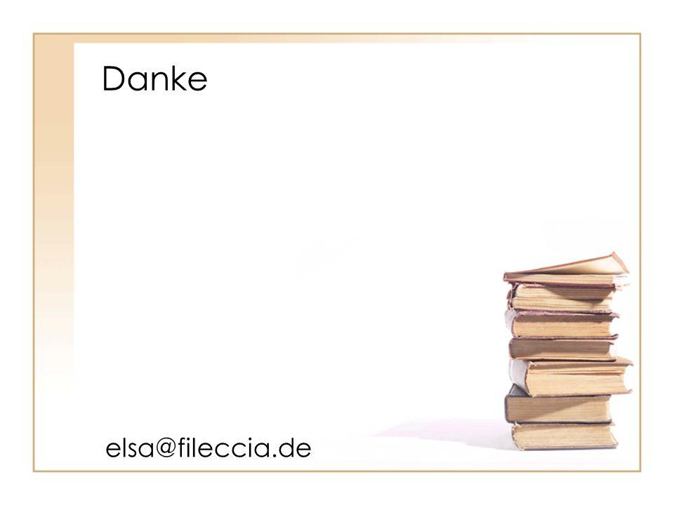 Danke elsa@fileccia.de