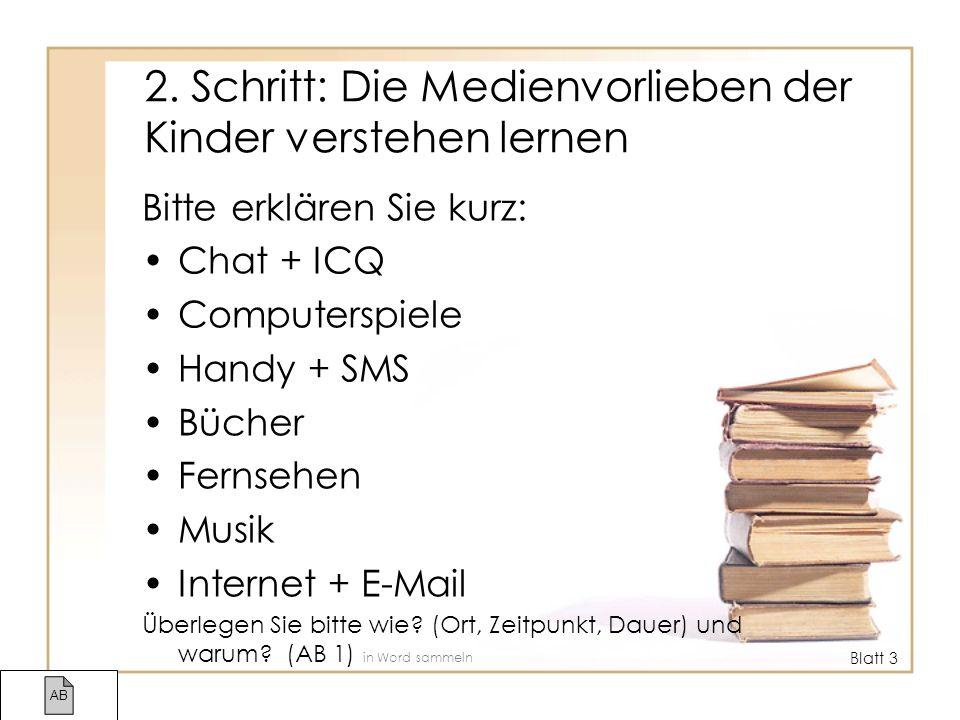 Zweck Mediennutzung ist kein Selbstzweck.Sie dient Bedürfnissen: –Warum Chat + ICQ.