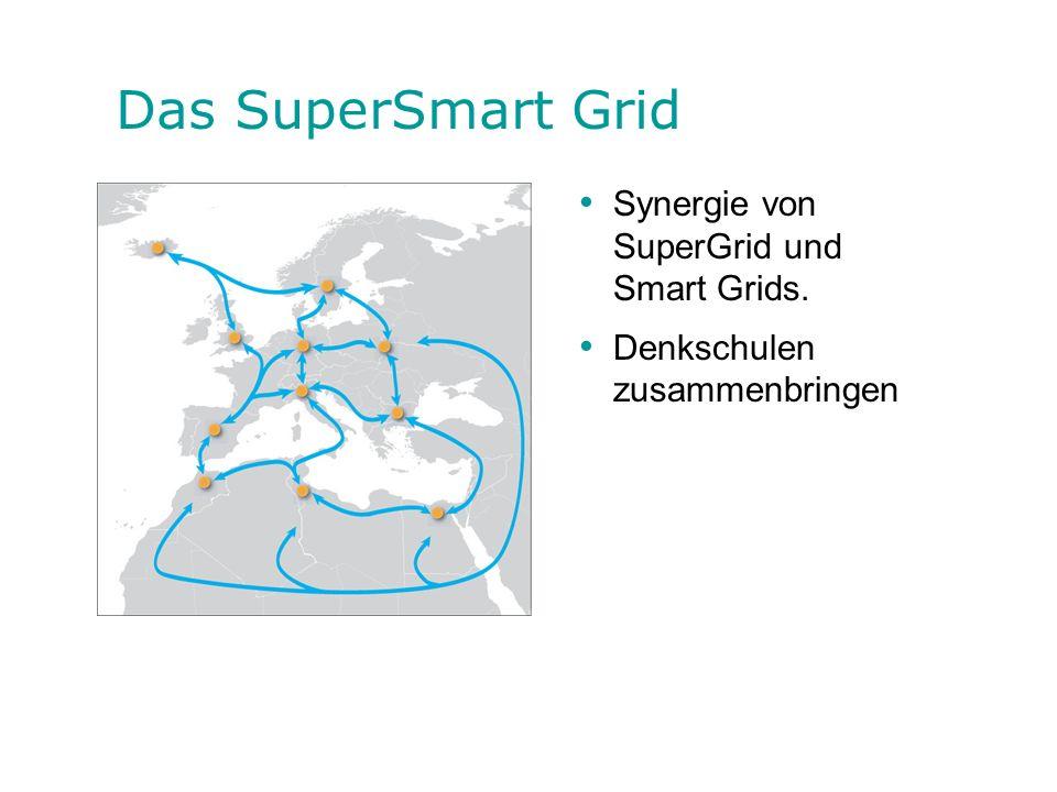Das SuperSmart Grid Synergie von SuperGrid und Smart Grids. Denkschulen zusammenbringen