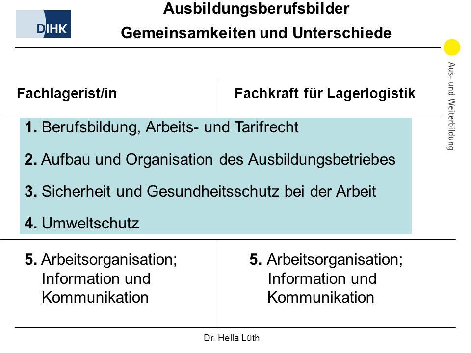 Dr.Hella Lüth 1. Berufsbildung, Arbeits- und Tarifrecht 2.