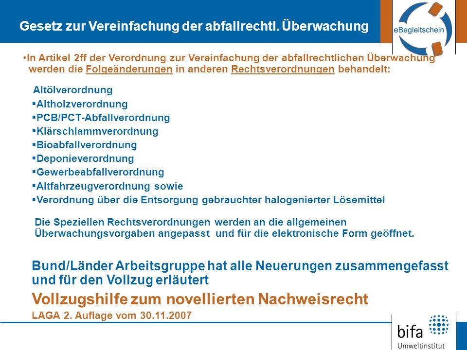 Neu: Abfälle werden dem EU-Recht folgend unterteilt in: gefährliche Abfälle nicht gefährliche Abfälle (EU-Recht: Künftig zusätzlich Verdünnungs- Vermischungsverbot) Vorher: Besonders überwachungsbedürftige Abfälle, überwachungsbedürftige Abfälle zur Verwertung, Nicht überwachungsbedürftige Abfälle Wesentliche Änderungen