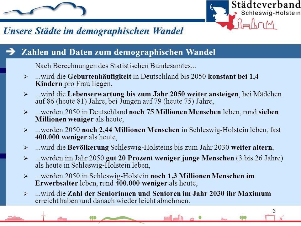 2 Nach Berechnungen des Statistischen Bundesamtes......wird die Geburtenhäufigkeit in Deutschland bis 2050 konstant bei 1,4 Kindern pro Frau liegen,..