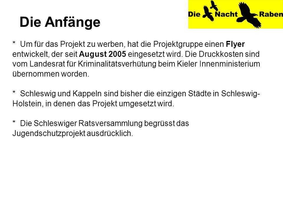* Um für das Projekt zu werben, hat die Projektgruppe einen Flyer entwickelt, der seit August 2005 eingesetzt wird.
