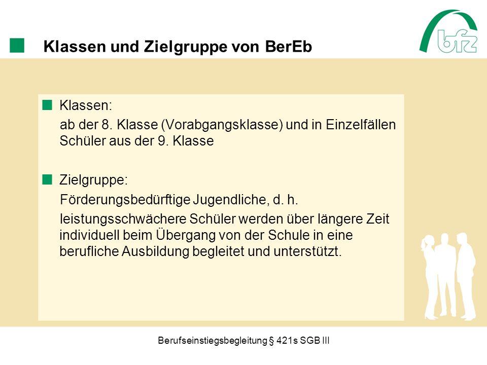 Berufseinstiegsbegleitung § 421s SGB III Beispiele aus der Praxis: Großraum München für die 9.