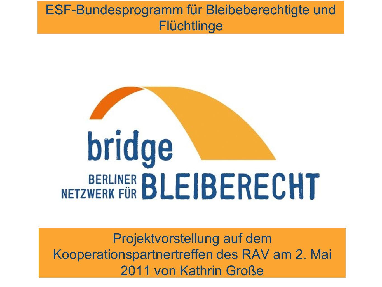 Projektvorstellung Was ist bridge? Zielgruppe Projektziel Probleme