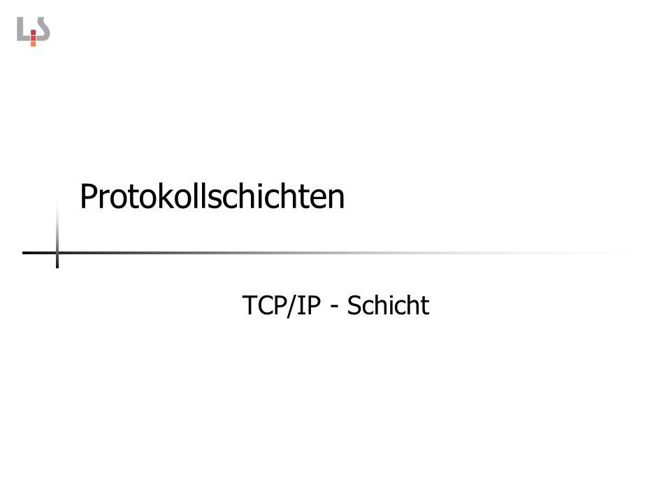 Protokollschichten TCP/IP - Schicht