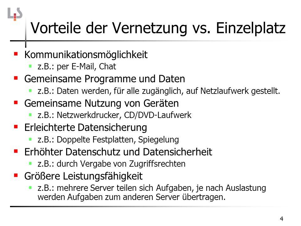35 Aufgaben der IP-Schicht Beim Sender Routing, d.h.