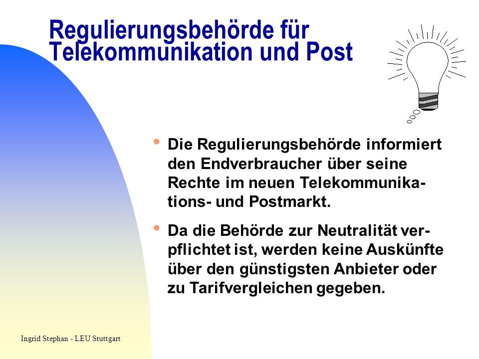 Regulierungsbehörde für Telekommunikation und Post Die Regulierungsbehörde informiert den Endverbraucher über seine Rechte im neuen Telekommunika- tio
