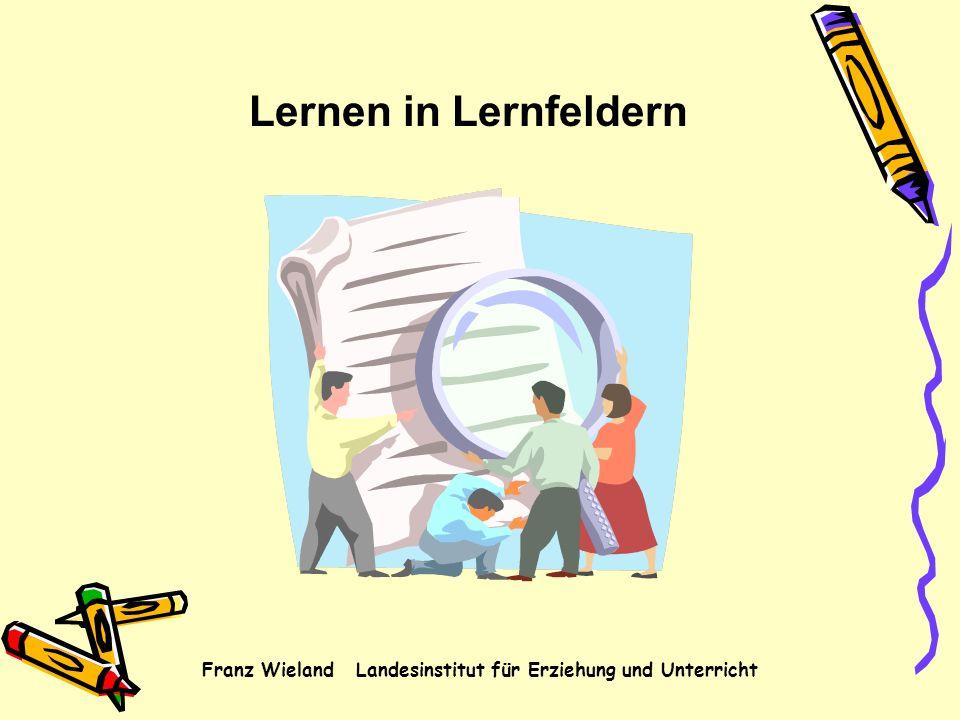 Lernen in Lernfeldern Franz Wieland Landesinstitut für Erziehung und Unterricht