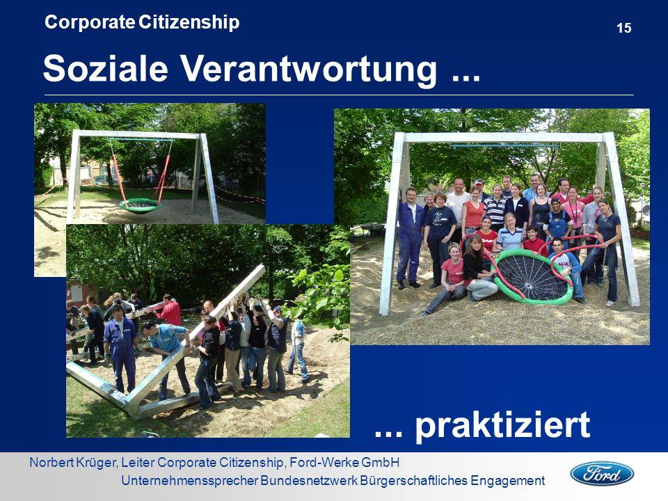 Norbert Krüger, Leiter Corporate Citizenship, Ford-Werke GmbH Unternehmenssprecher Bundesnetzwerk Bürgerschaftliches Engagement Soziale Verantwortung.