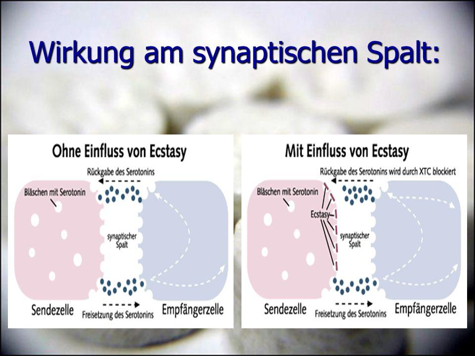 Wirkung am synaptischen Spalt: