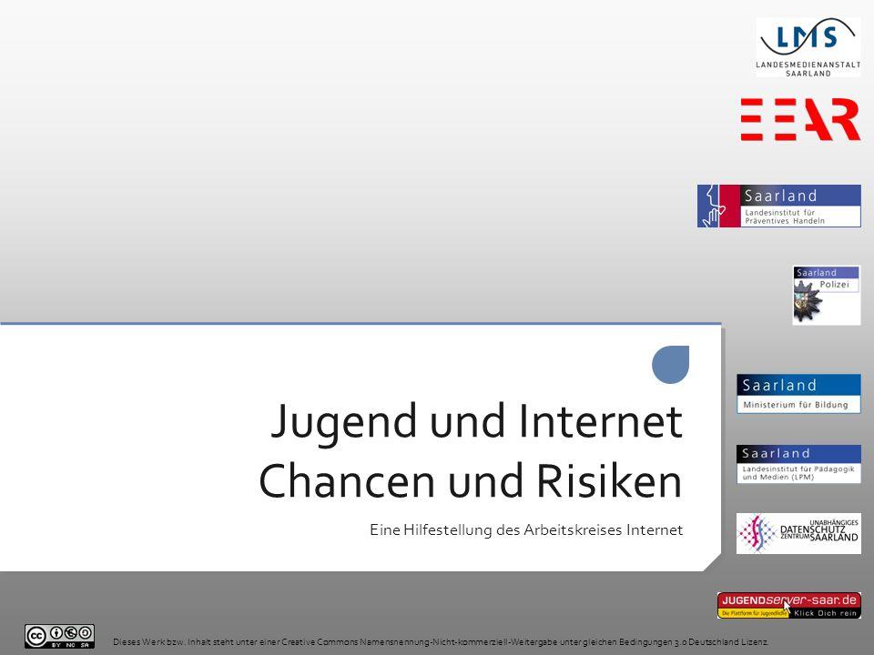 Jugend und Internet Chancen und Risiken Eine Hilfestellung des Arbeitskreises Internet Dieses Werk bzw. Inhalt steht unter einer Creative Commons Name