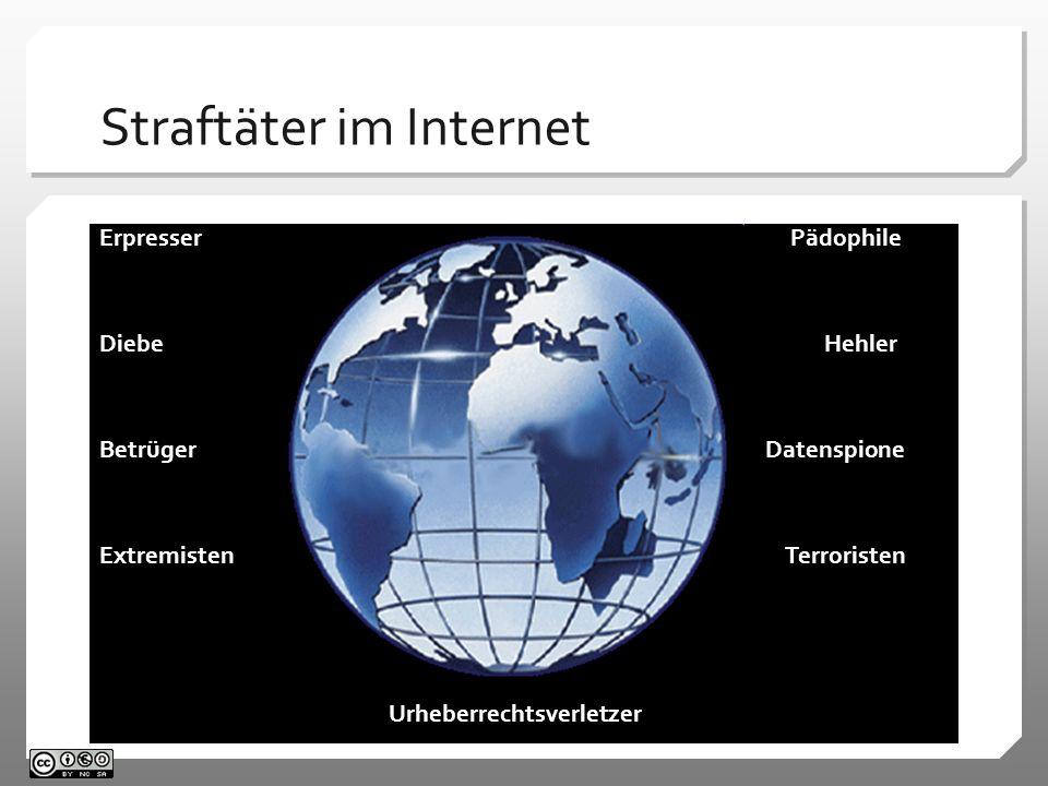 Straftäter im Internet Erpresser Pädophile Diebe Hehler Betrüger Datenspione Extremisten Terroristen Urheberrechtsverletzer