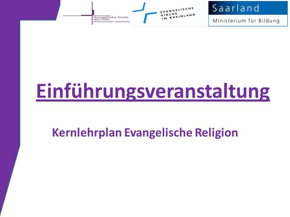 Einführungsveranstaltung Kernlehrplan Evangelische Religion