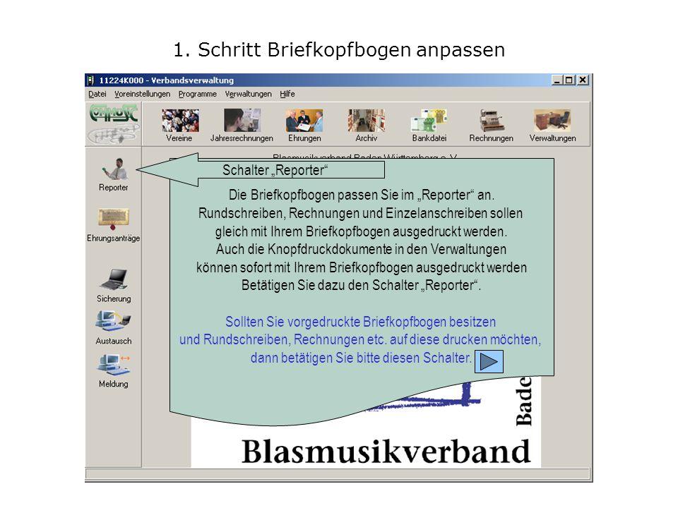 2.Schritt Briefkopfbogen anpassen Verzeichnis bzw.