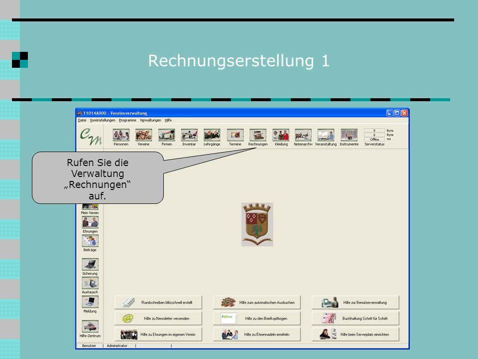 Rechnungserstellung 2 Wenn Sie diese Präsentation Wir gehen davon aus, dass Ihr Verein vorgedruckte Briefkopfbogen hat.