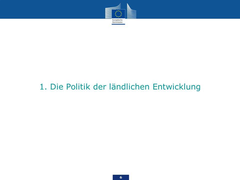 6 1. Die Politik der ländlichen Entwicklung