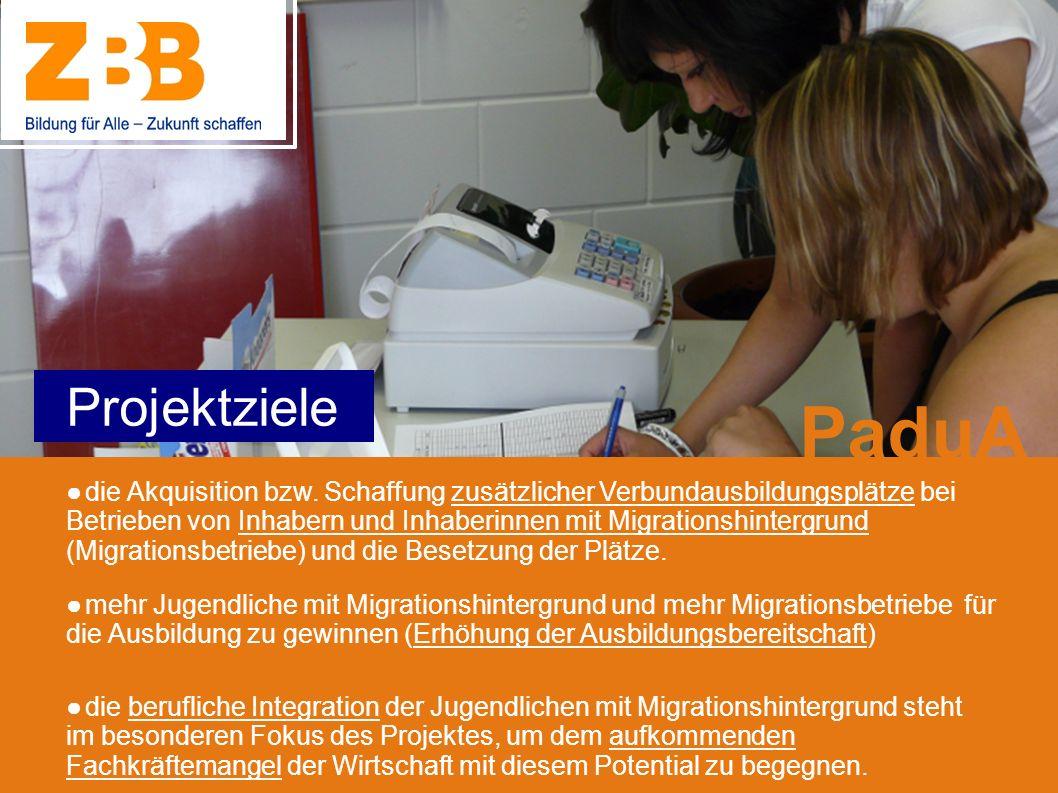 mehr Jugendliche mit Migrationshintergrund und mehr Migrationsbetriebe für die Ausbildung zu gewinnen (Erhöhung der Ausbildungsbereitschaft) die beruf