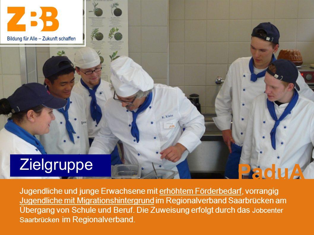 Zielgruppe Jugendliche und junge Erwachsene mit erhöhtem Förderbedarf, vorrangig Jugendliche mit Migrationshintergrund im Regionalverband Saarbrücken