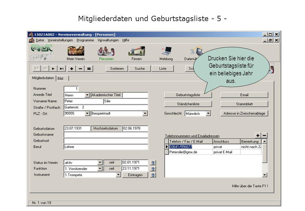 Informationen zur ComMusic-Vereinsverwaltung - 16 - Wenn die Funktionen der Meldeversion für den Verein nicht mehr ausreichen, können Benutzer der Meldeversion ohne Probleme und Datenverlust auf das Basis- oder Profipaket der ComMusic-Vereinsverwaltung umsteigen.