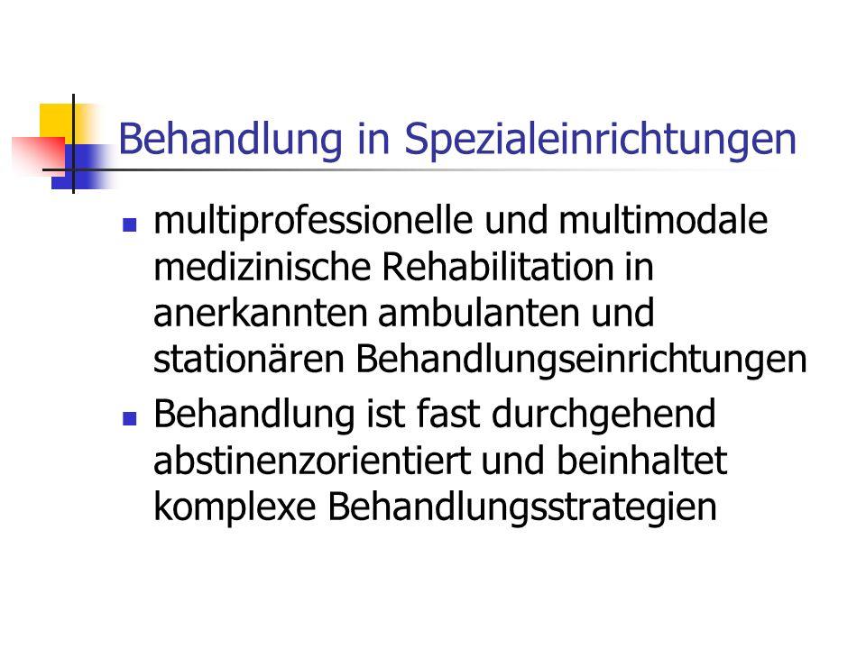 Behandlung in Spezialeinrichtungen multiprofessionelle und multimodale medizinische Rehabilitation in anerkannten ambulanten und stationären Behandlun