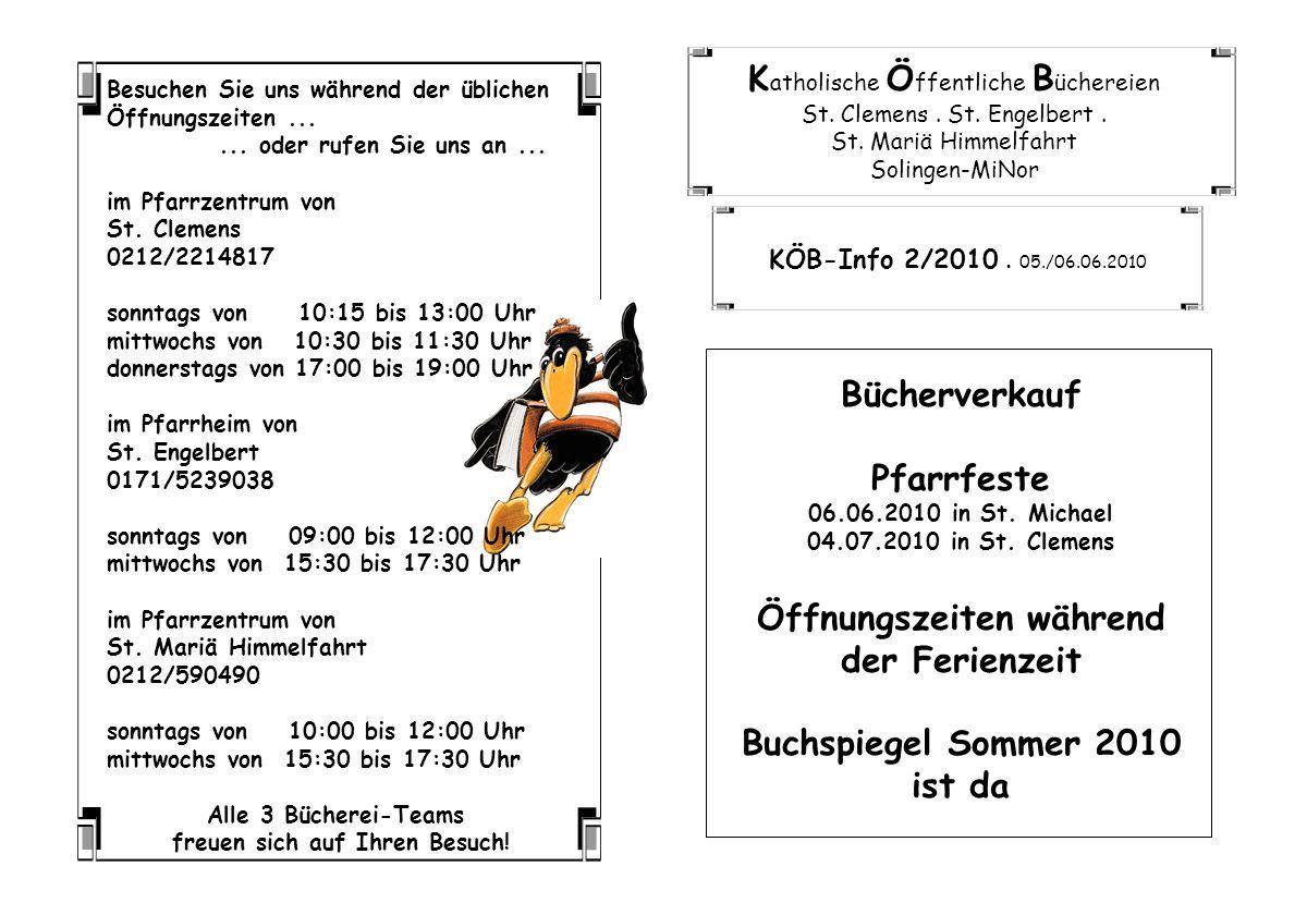 K atholische Ö ffentliche B üchereien St.Clemens.