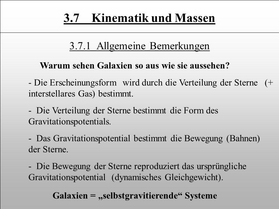 Kinematik Messung der Bewegung der Sterne: Prinzip v