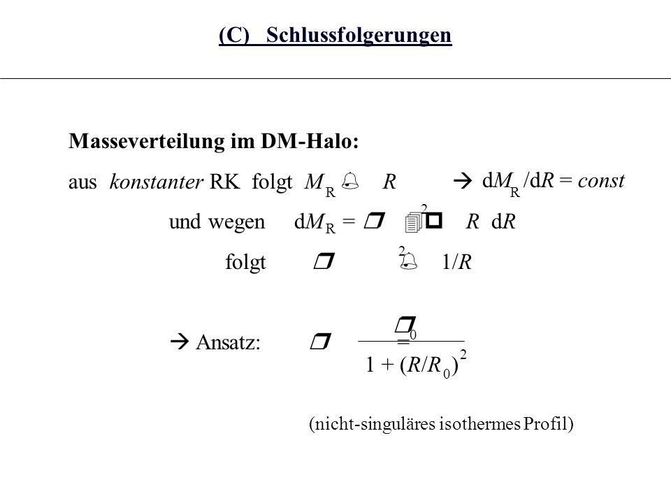 Bemerkung Die Hypothese der Existenz von DM ist nicht so exotisch, wie sie zunächst erscheinen mag: