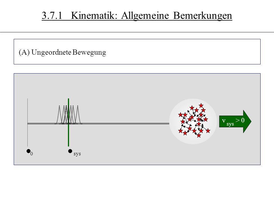 3.7 (A) Ungeordnete Bewegung Linienverbreiterung W % s Linie vrvr W ll 0sys v > 0 sys WH 3.7.1 Kinematik: Allgemeine Bemerkungen