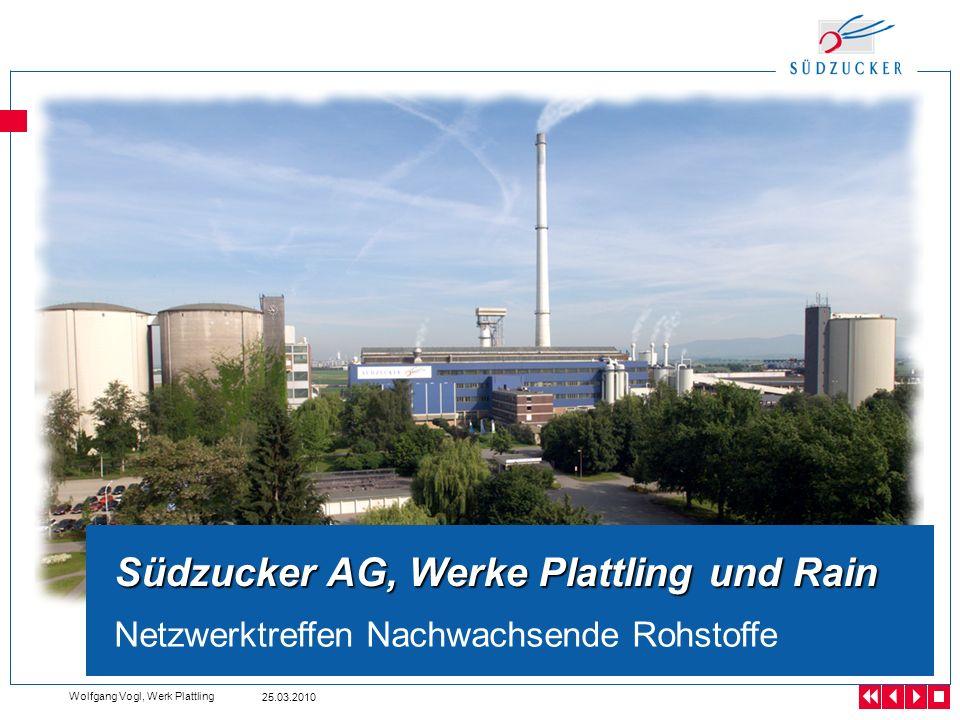 25.03.2010 Wolfgang Vogl, Werk Plattling Bericht der Werkleitung Betriebsversammlung Werk Plattling, 20.09.2006 Südzucker AG, Werke Plattling und Rain