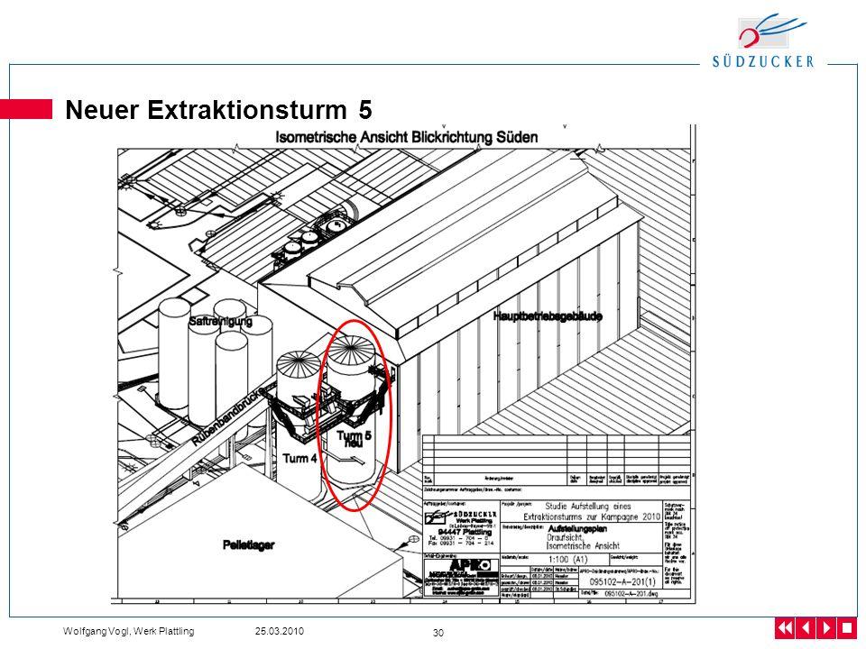 Wolfgang Vogl, Werk Plattling 25.03.2010 30 Neuer Extraktionsturm 5