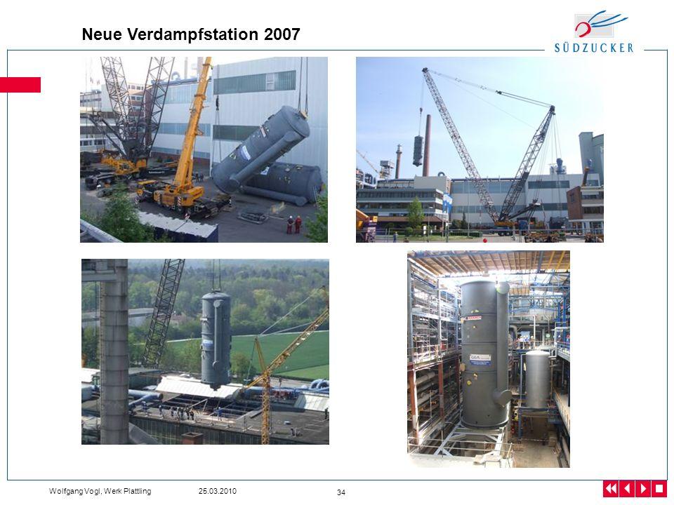 Wolfgang Vogl, Werk Plattling 25.03.2010 34 Neue Verdampfstation 2007