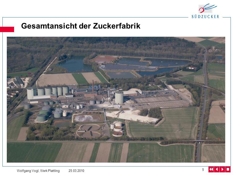 Wolfgang Vogl, Werk Plattling 25.03.2010 5 Gesamtansicht der Zuckerfabrik