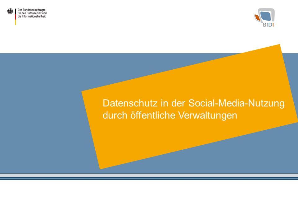 1 Datenschutz in der Social-Media-Nutzung durch öffentliche Verwaltungen