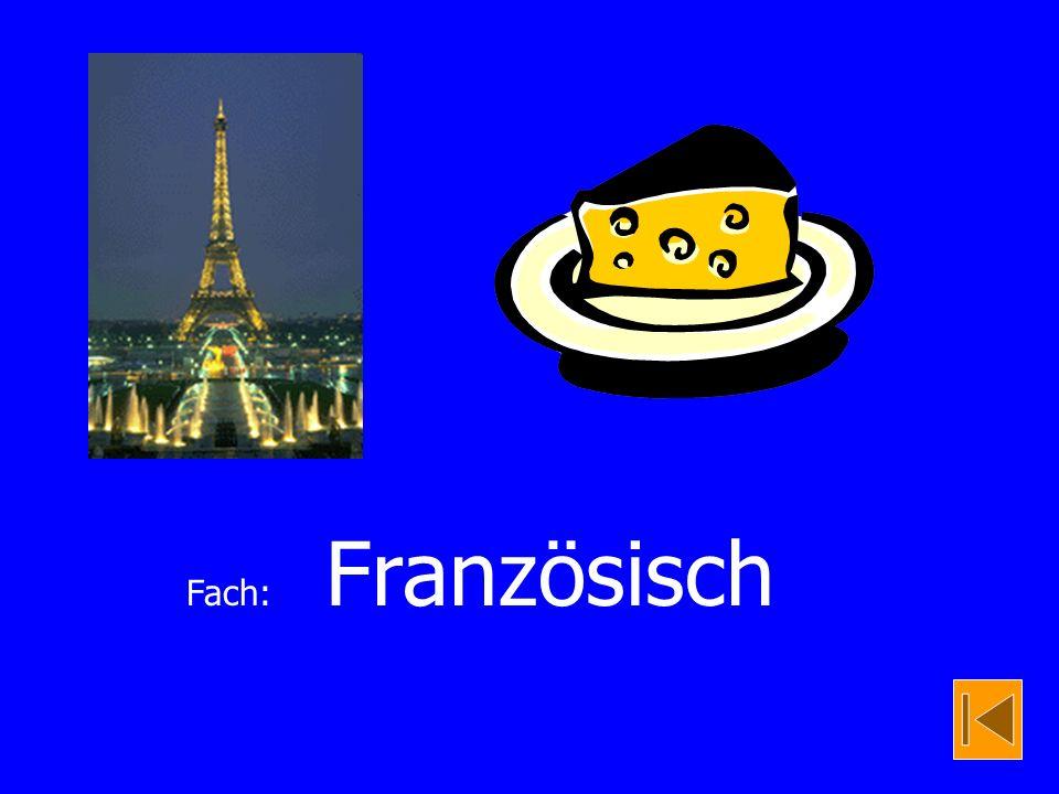 Fach: Französisch
