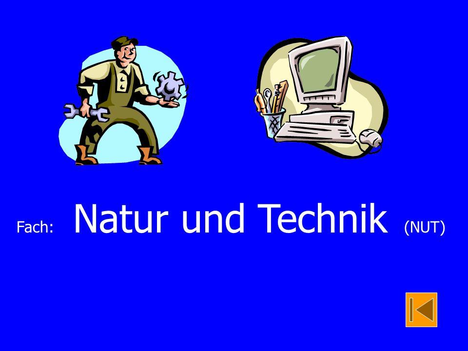 Fach: Natur und Technik (NUT)