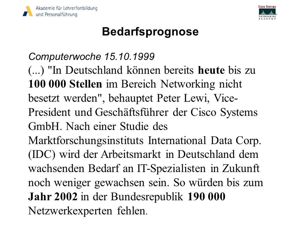 Bedarfsprognose Computerwoche 15.10.1999 (...)