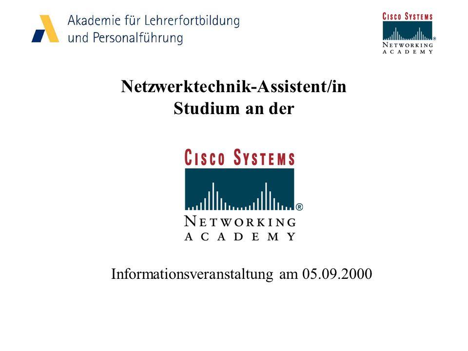 Netzwerktechnik-Assistent/in Studium an der Informationsveranstaltung am 05.09.2000