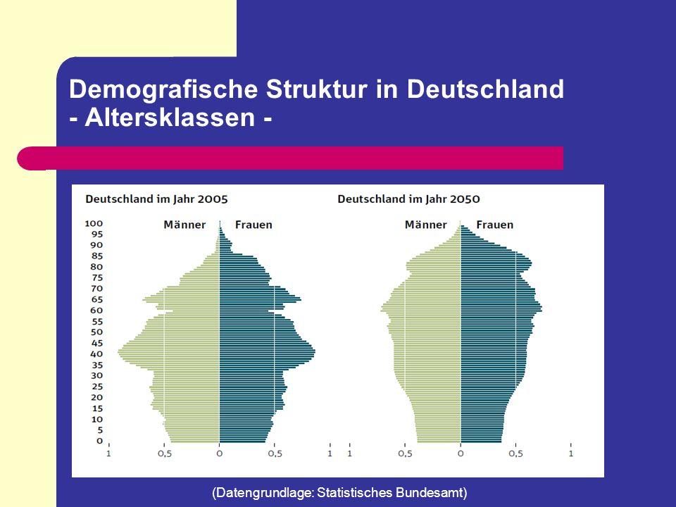 Demografische Struktur in Deutschland - Altersverteilung - 2050 wird jeder 3.