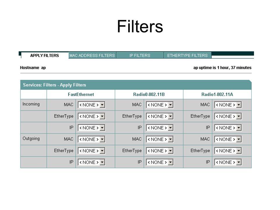 VLANs in the Wireless network VLAN 100 allows guest access.