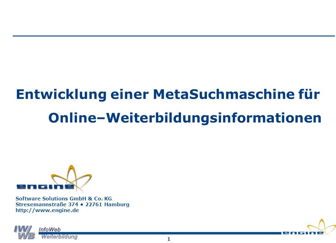 2 Suchmaschinen: Technische Lösungen Klassische Suchmaschinen Spezialisierte Suchmaschinen Neue Wege zur Vernetzung von Informationsangebote